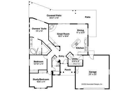 southwest floor plans southwest house plans mesa verde 11 126 associated designs