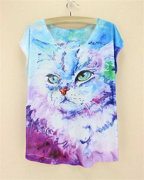 cute pattern shirts cute cats pattern women tshirt 2015 novelty printed t