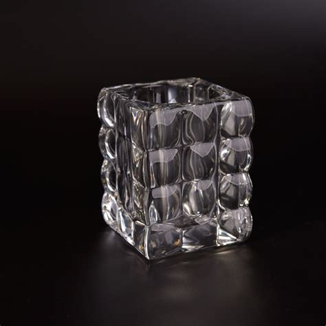Square Glass Candle Holders by Square Glass Candle Jars Glass Candle Holders