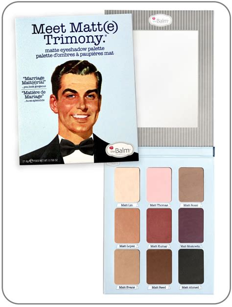 The Balm Meet Matte Trimony Palette Original new the balm s new matte palette meet matt e trimony hover out of all their palettes i like