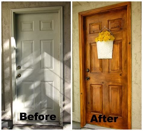 Honey I M Home A Faux Wood Painting Tutorial Painting A Metal Front Door