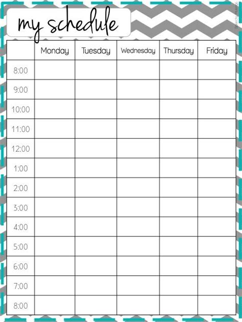 25 best ideas about weekly schedule on pinterest