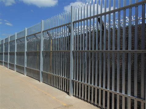 fence section 3 5m high w section galvanised palasade frogley fencing