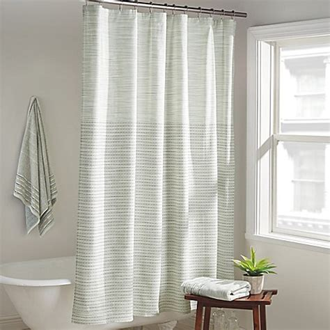 dkny curtains dkny yorkville shower curtain in mist bed bath beyond
