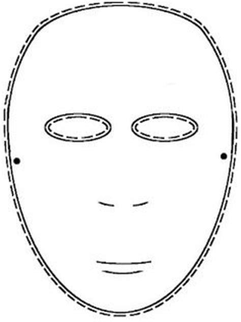 blank mask template blank mask worksheet search education