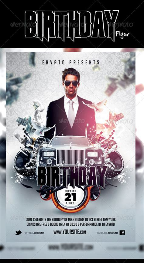 birthday flyer template 30 best birthday psd flyer templates designssave