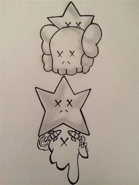 kaws tattoo kaws by chris brown graphics chris