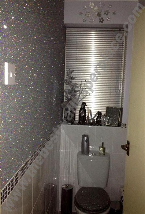 stardust shades of silver black glitter wallpaper