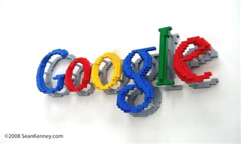 google images lego floating google logo a lego 174 creation by sean kenney