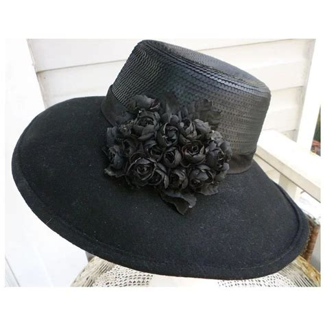 glamorous hats galore avenue magazine vintage whittall shon designer black felt hat with black
