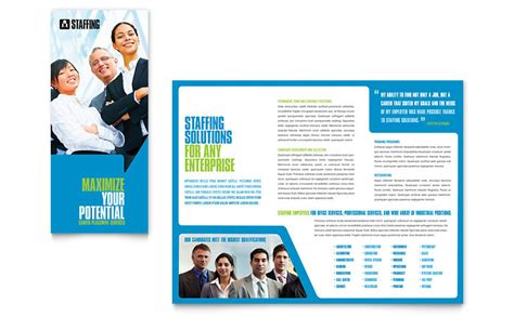 Recruiting Brochure Template staffing recruitment agency brochure template word publisher