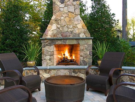 inspiring outdoor fireplace ideas corner