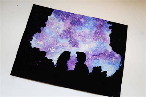 tutorial watercolor galaxy how to paint a watercolor galaxy tutorial youtube