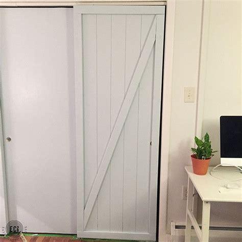 Diy Faux Barn Doors Hollow Core Door Makeover House Faux Barn Doors