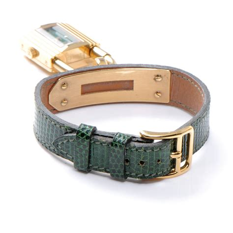 hermes cadena watch hermes lizard kelly cadena watch green 47839