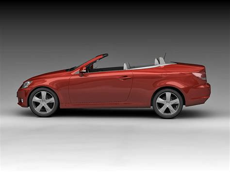 convertible models lexus is250c coupe convertible 2009 3d model animated max