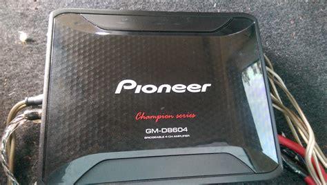 Power Lifier 4 Channel Pioneer Gm 8604 fs socal pioneer gm 8604 4 channel g35driver