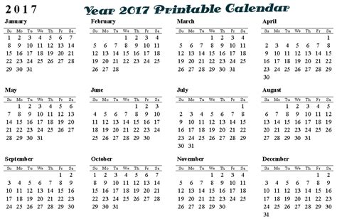 free printable year planner 2017 full year 2017 calendar printable collection yearly calendars