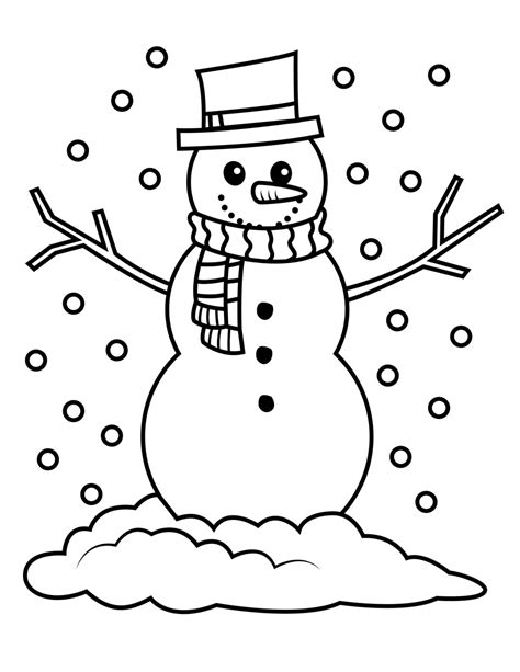 Snowman Printable Coloring Pages snowman coloring coloring pages