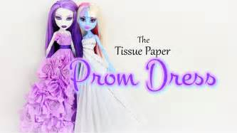 How To Make A Paper Doll Dress - how to make a tissue paper prom dress doll crafts