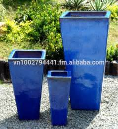 Black Cylinder Vase Tall Tapered Square Planters Outdoor Glazed Pots