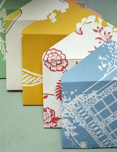 How To Make An Envelope From Scrapbook Paper - pretty handmade envelopes just imagine daily dose of