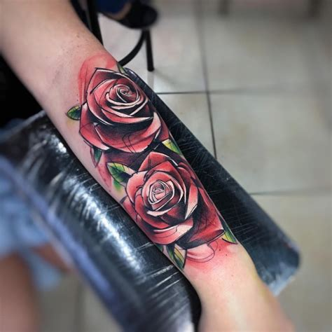 sensational watercolor flower tattoos page