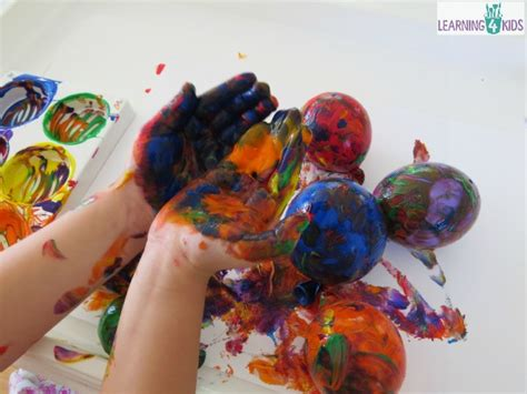 play all painting painting with balloons learning 4