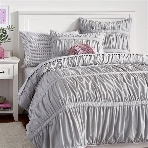 twin gray comforter pucker up comforter xl twin light gray pbteen