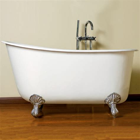 bathtub 54 x 30 cambridge plumbing swed54 nh cast iron swedish slipper tub