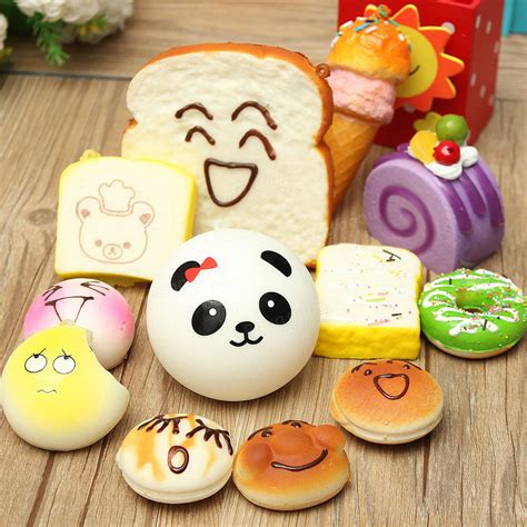 Random Sale Alert by 12pcs Random Kawaii Squishy Panda Bun Toasts Multi Donuts