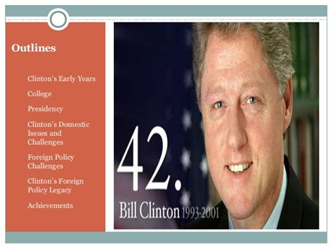 bill clinton presidency president bill clinton life and cv
