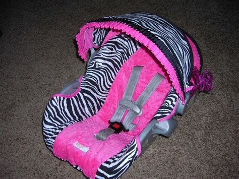 Handmade Car Seat Covers - car seat cover for girly infant pictures
