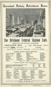 Dining Room Buffet railway refreshment rooms queensland historical atlas