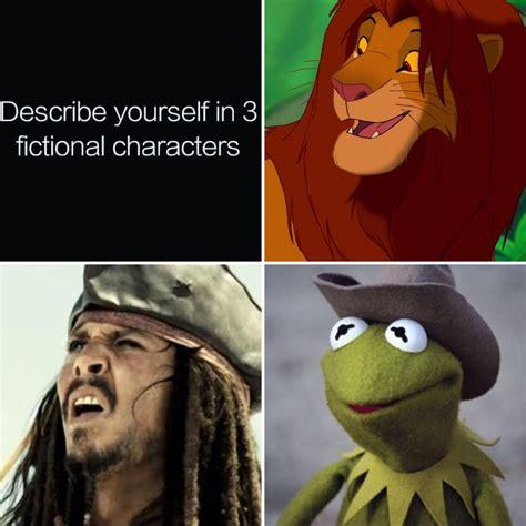 describe    fictional characters   meme
