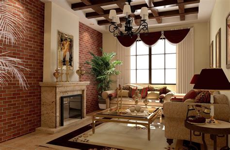 red brick walls interior design