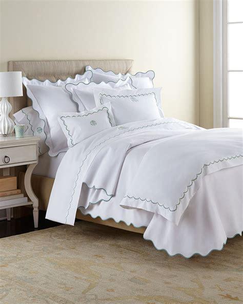 scalloped bedding matouk scallops bedding 350tc sheets malibu mart
