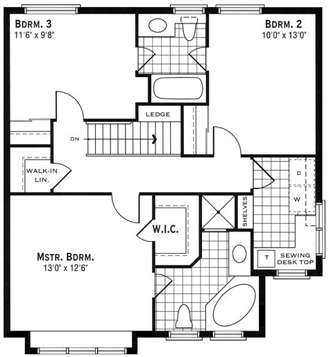 second floor plan our house