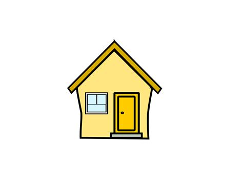 clipart gelbes haus yellow house