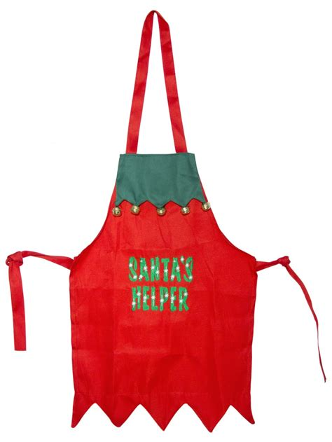 santa s helper childs apron with bells christmas