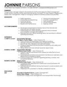 Transportation Manager Resume by 10 Best Professional Store Manager Resume Writing Resume Sle Writing Resume Sle