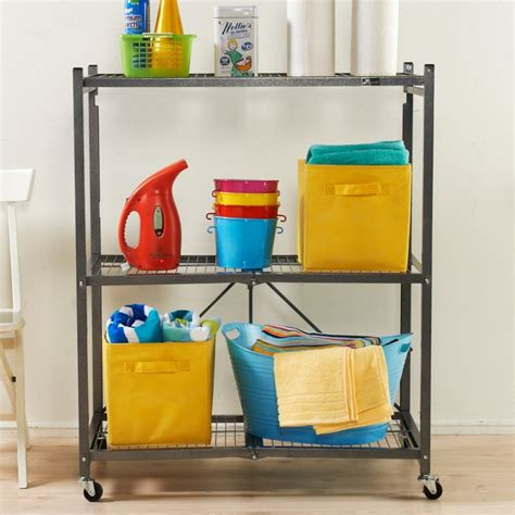 Origami 3 Tier Collapsible Shelf - origami 3 tier folding storage shelves best storage