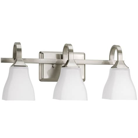 Delta Light Fixtures Bathroom Simple Less Than 100 Shop Delta 3 Light Olmsted Brushed Nickel Bathroom Vanity Light At