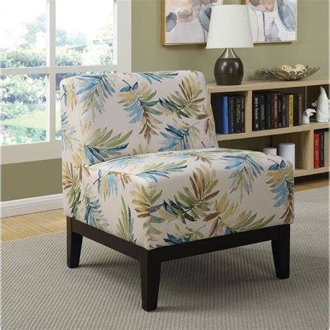 Blue Green Accent Chair Coaster Upholstered Accent Chair In Blue And Green 902614