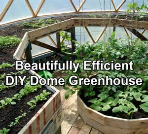 Backyard Greenhouse Kit A Beautifully Efficient Diy Dome Greenhouse