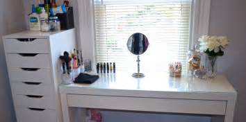 Make Your Own Vanity Table Makeup Vanity Collection Organization Youtube