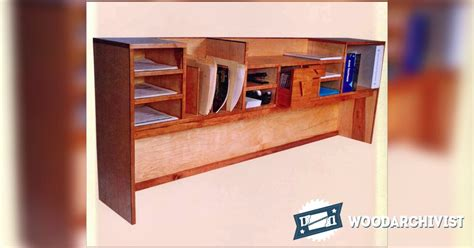 desktop organizer plans woodarchivist
