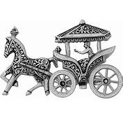 Horse Drawn Carriage Clipart Gold  Pencil And In