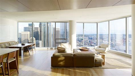 High Rise Apartment with Floor to Ceiling Windows