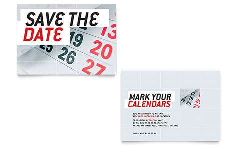 save the date announcement template word publisher